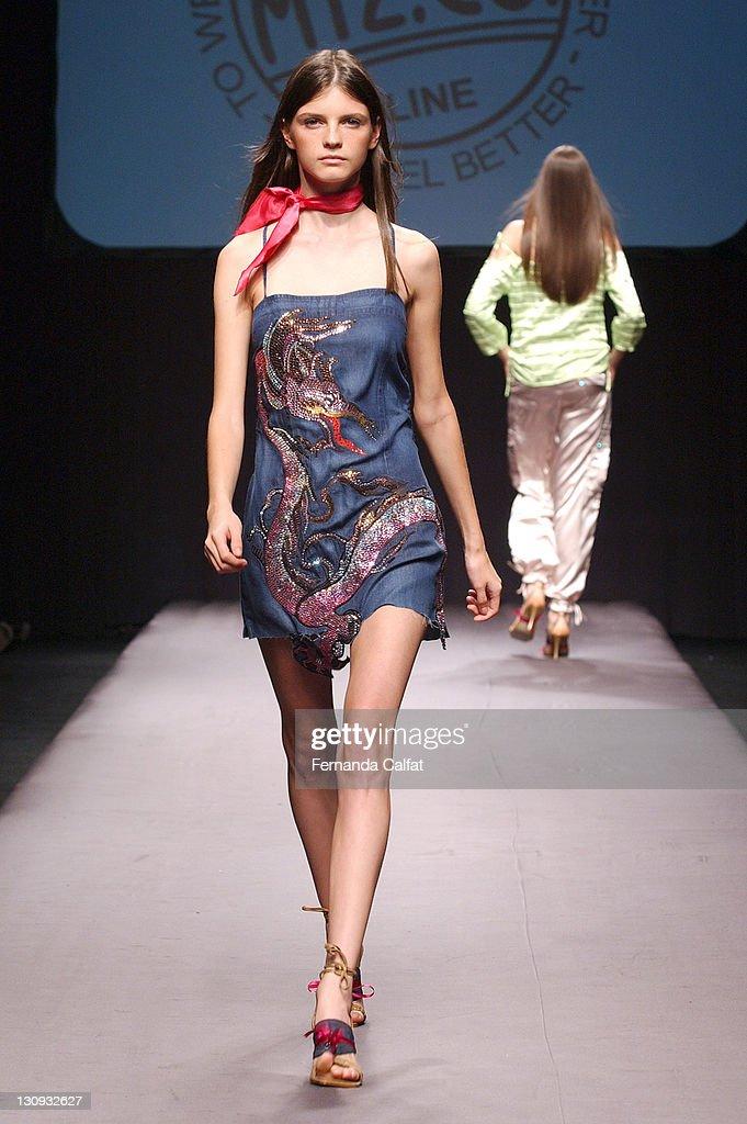 Jeissa Chiminazzo during Goias Marca Moda Fashion Shows MTZCO at Oliveira's Place in Goiania Goias Brazil