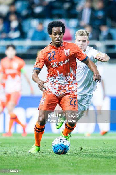 Jeju United Forward Magno Da Cruz in action during the AFC Champions League 2017 Group Stage Group H match between Jeju United FC vs Adelaide United...