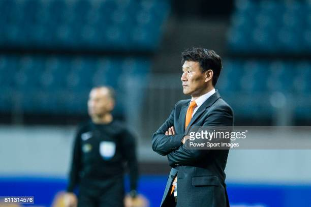 Jeju United Head Coach Cho Sung Hwan during the AFC Champions League 2017 Group Stage Group H match between Jeju United FC vs Adelaide United at the...