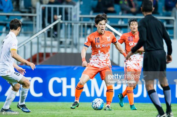 Jeju United Midfielder Lee Changmin in action during the AFC Champions League 2017 Group Stage Group H match between Jeju United FC vs Adelaide...