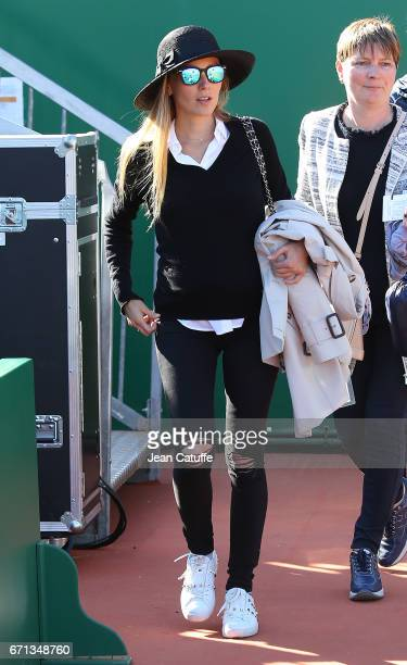 Jelena Djokovic attends husband Novak's match on day 6 of the MonteCarlo Rolex Masters an ATP Tour Masters Series 1000 on the clay courts of the...