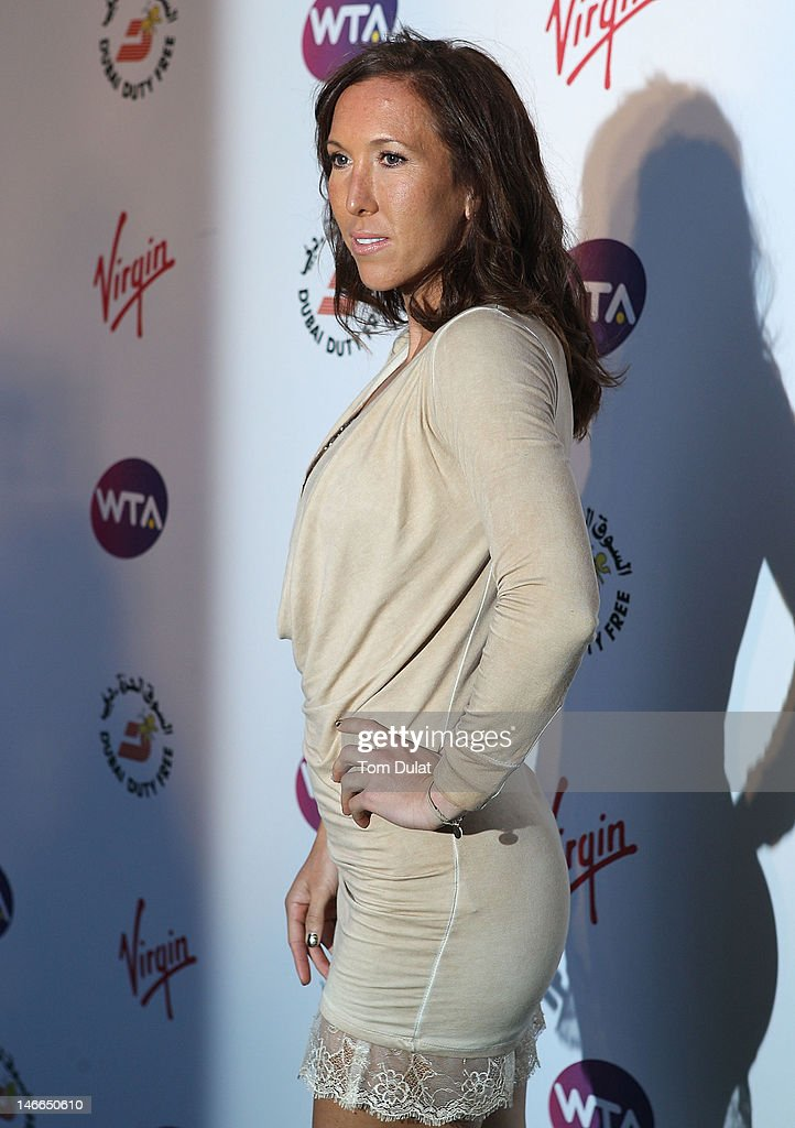 Jelena Jankovic arrives at the WTA Tour Pre-Wimbledon Party at The Roof Gardens, Kensington on June 21, 2012 in London, England.