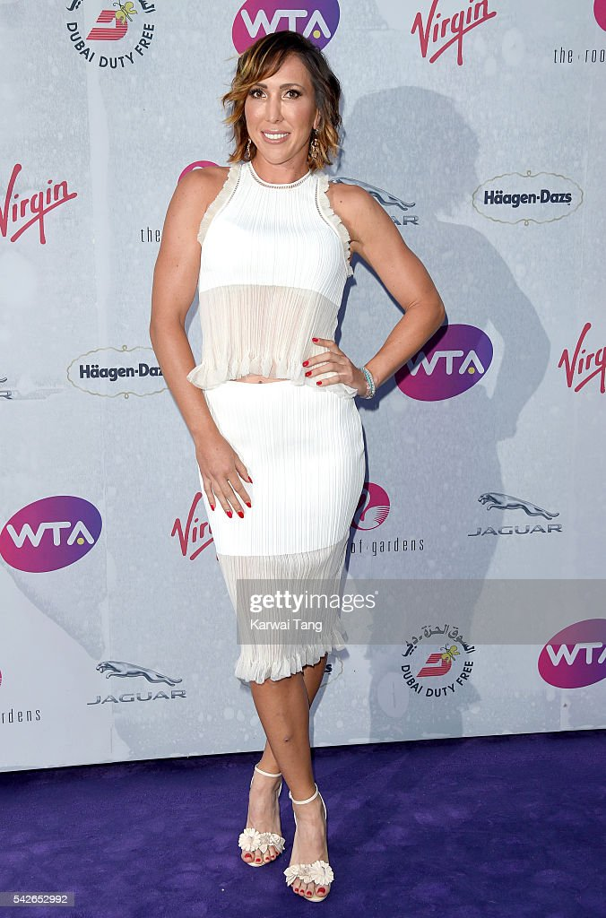 Jelena Jankovic arrives for the WTA PreWimbledon Party at Kensington Roof Gardens on June 23 2016 in London England