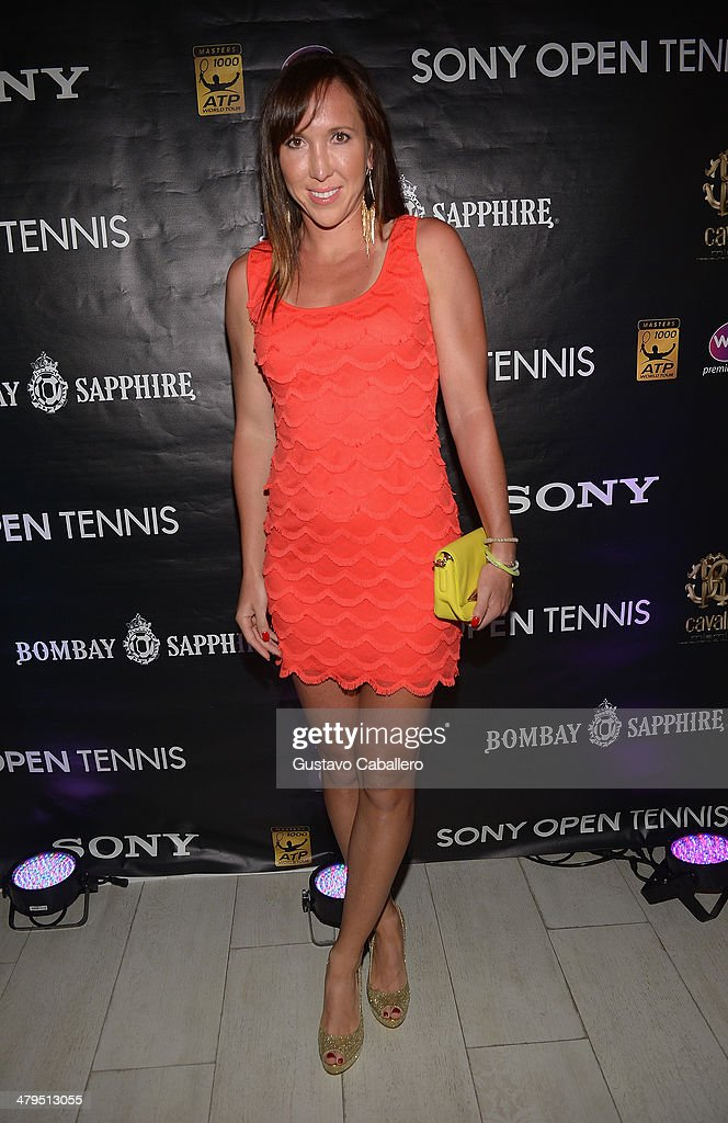 Jelena Jankovic of Serbia attends the players party held at Cavalli Miami on March 18, 2014 in Miami Beach, Florida.