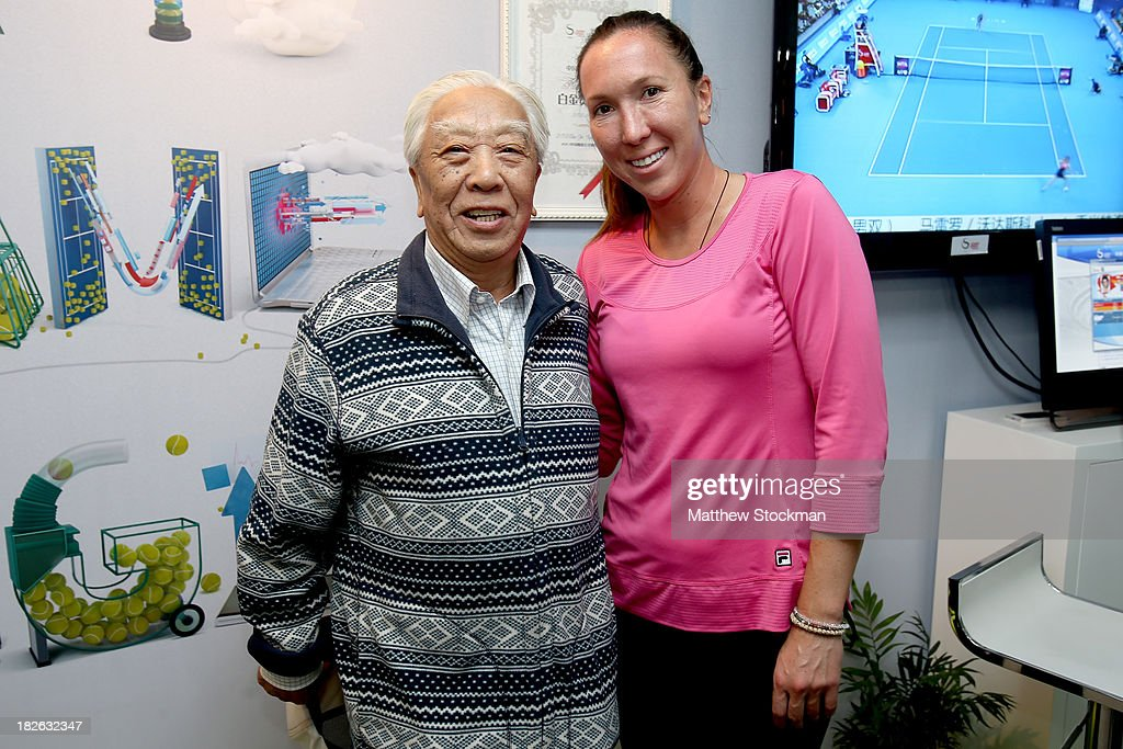 Jelena Jankovic of Serbia signs autographs in the IBM suite during day five of the 2013 China Open at the National Tennis Center on October 2, 2013 in Beijing, China.