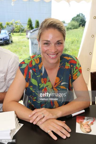 Jelena Mitschke poses during the celebration of 2500 episodes of 'Rote Rosen' on June 18 2017 in Lueneburg Germany