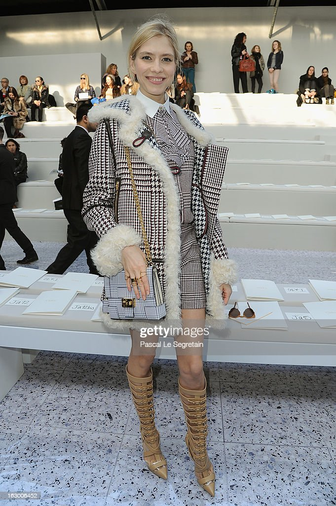 Jelena Perminova attends the Chloe Fall/Winter 2013 Ready-to-Wear show as part of Paris Fashion Week on March 3, 2013 in Paris, France.