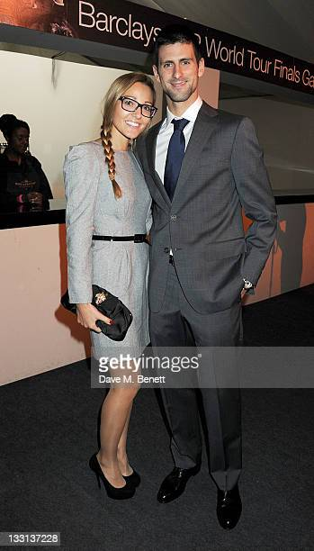 Jelena Ristic and tennis player Novak Djokovic attend 'A Night With The Stars' Barclays ATP World Tour Finals Gala hosted by Great Ormond Street...