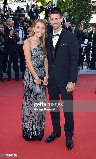 Jelena Ristic and tennis player Novak Djokovic attend the 'Killing Them Softly' Premiere during the 65th Annual Cannes Film Festival at Palais des...