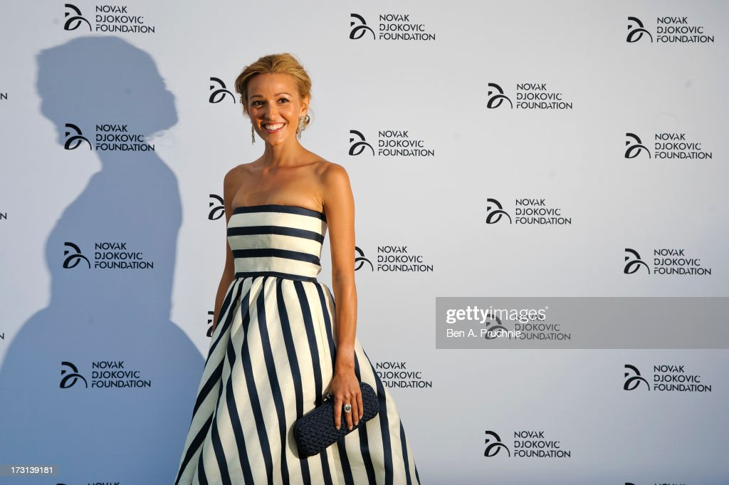 Jelena Ristic attends the Novak Djokovic Foundation London gala dinner at The Roundhouse on July 8, 2013 in London, England.