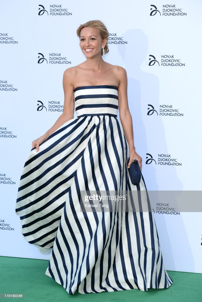 <a gi-track='captionPersonalityLinkClicked' href=/galleries/search?phrase=Jelena+Ristic&family=editorial&specificpeople=5608157 ng-click='$event.stopPropagation()'>Jelena Ristic</a> attends the Novak Djokovic Foundation London gala dinner at The Roundhouse on July 8, 2013 in London, England.