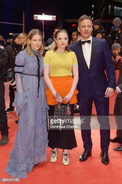 Jella Haase Aino Laberenz and Tom Wlaschiha attend the 'Django' premiere during the 67th Berlinale International Film Festival Berlin at Berlinale...