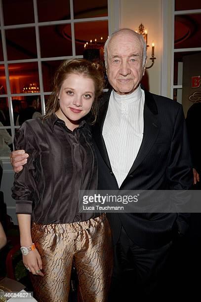 Jella Haase and Armin MuellerStahl attend Askania Award 2014 at Kempinski Hotel Bristol on February 4 2014 in Berlin Germany