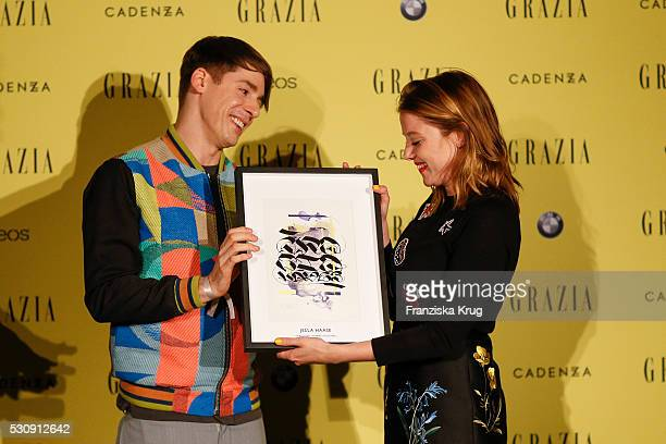 Jella Haase and Kilian Kerner attend the GRAZIA Best Inspiration Award on May 11 2016 in Berlin Germany