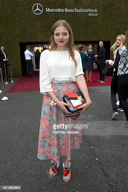 Jella Haase attend the Kilian Kerner show during the MercedesBenz Fashion Week Spring/Summer 2015 at Erika Hess Eisstadion on July 8 2014 in Berlin...