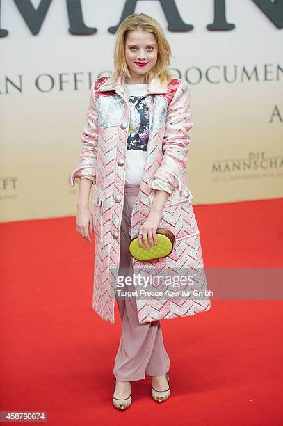 Jella Haase attends the 'Die Mannschaft' premiere at Potsdamer Platz on November 10 2014 in Berlin Germany