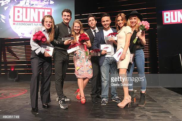Jella Haase Samuel Schneider Alicia von Rittberg David Dietl Aram Arami Gizem Emre and Anna Lena Klenke attend the New Faces Award Film 2014 at eWerk...