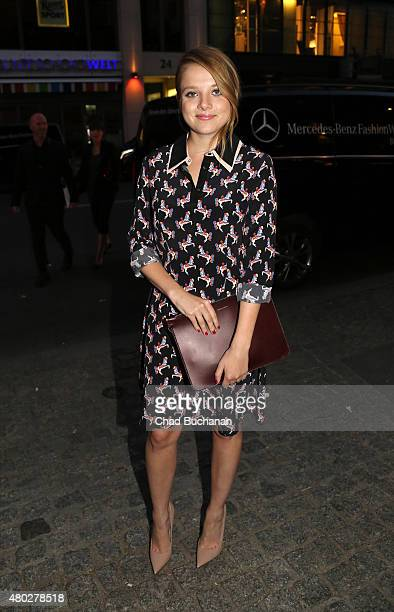 Jella Haase sighted arriving to Mercedes Benz Vogue Fashion Night at Borchardt's Restaurant on July 10 2015 in Berlin Germany