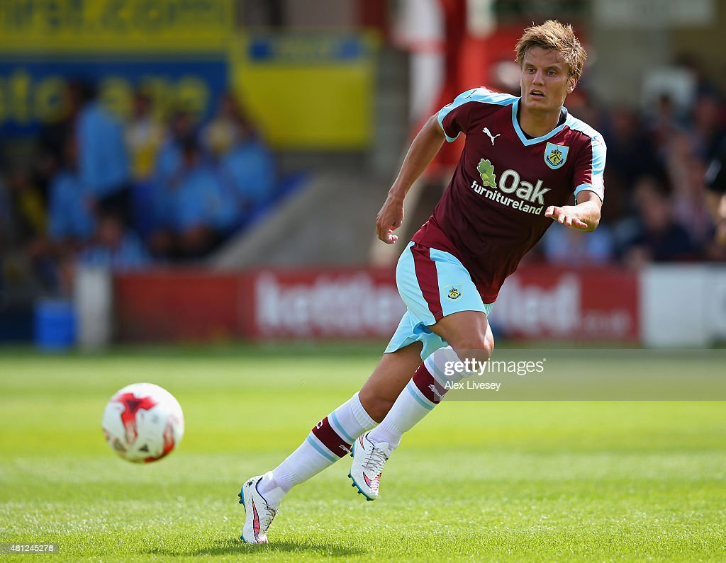 <a gi-track='captionPersonalityLinkClicked' href=/galleries/search?phrase=Jelle+Vossen&family=editorial&specificpeople=5881854 ng-click='$event.stopPropagation()'>Jelle Vossen</a> of Burnley during a Pre Season Friendly match between Accrington Stanley and Burnley at The Store First Stadium on July 18, 2015 in Accrington, England.