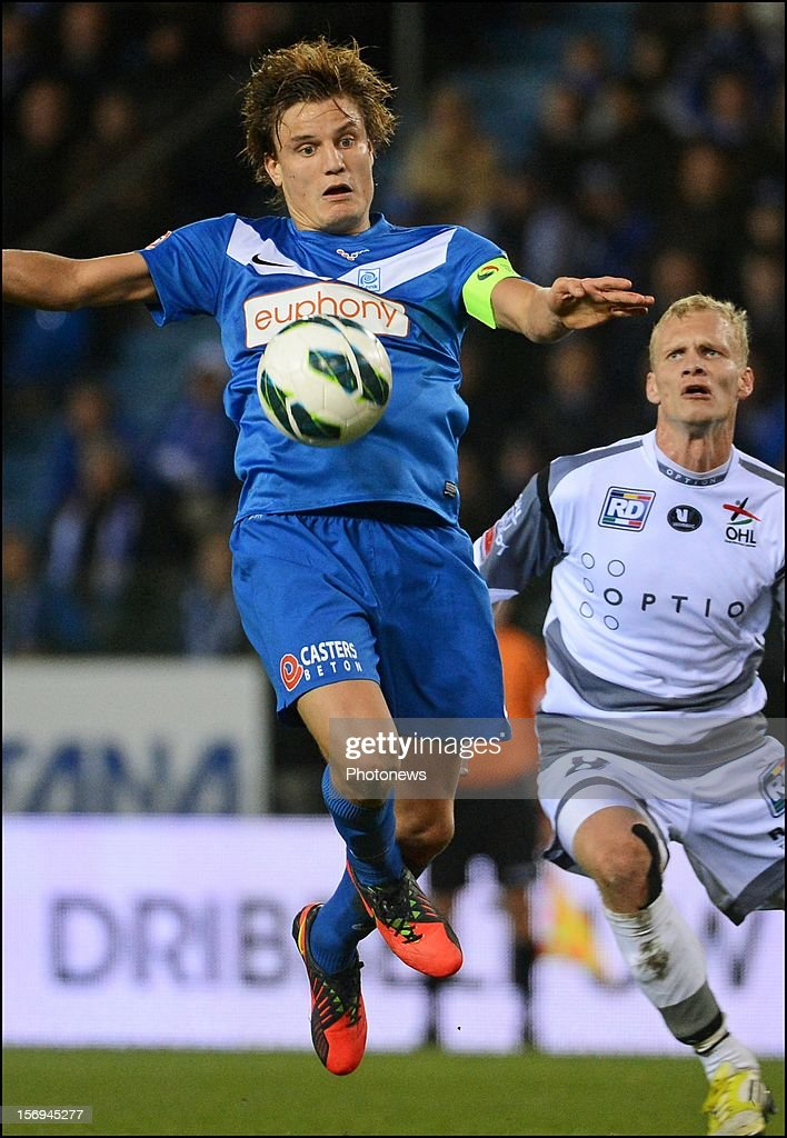 Jelle Vossen of Genk in action during the Jupiler League match between KRC Genk and Oud Heverlee Leuven OHL on November 25, 2012 in Genk, Belgium.
