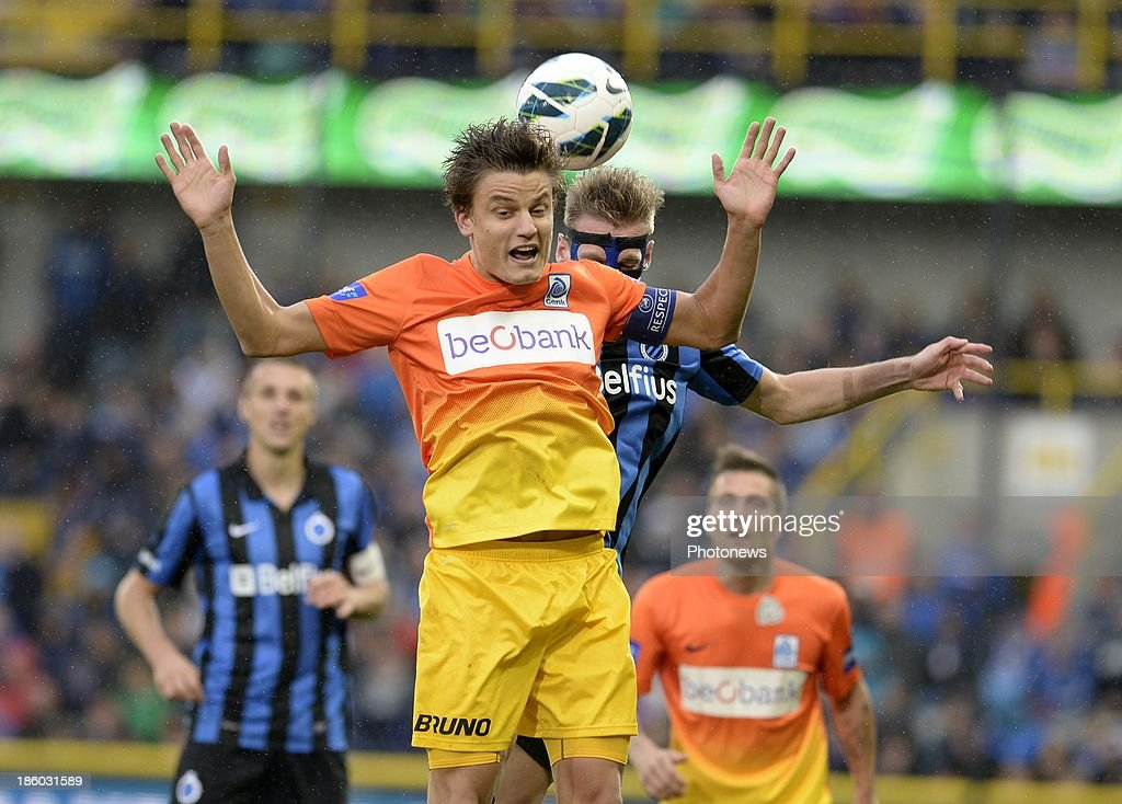 Jelle Vossen of KRC Genk pictured during the Jupiler Pro League match between Club Brugge KV and KRC Genk on October 27, 2013 in Brugge, Belgium.