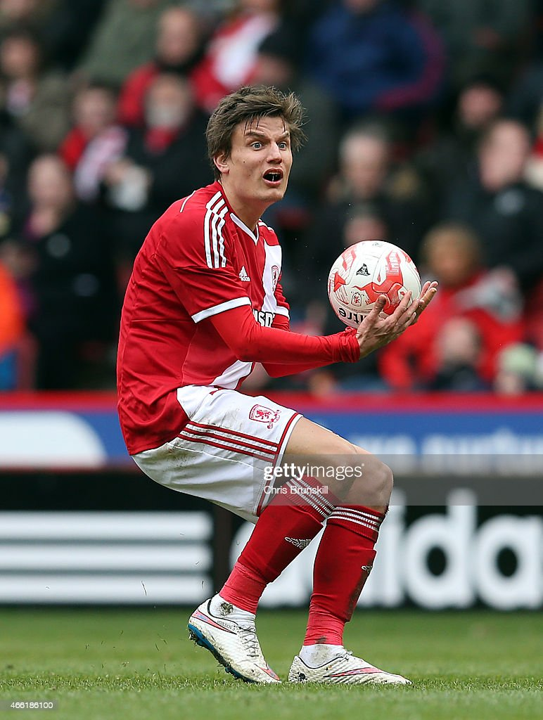 <a gi-track='captionPersonalityLinkClicked' href=/galleries/search?phrase=Jelle+Vossen&family=editorial&specificpeople=5881854 ng-click='$event.stopPropagation()'>Jelle Vossen</a> of Middlesbrough reacts during the Sky Bet Championship match between Middlesbrough and Ipswich Town at the Riverside Stadium on March 14, 2015 in Middlesbrough, England.