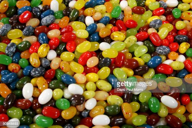 Jelly beans are shown at the Jelly Belly candy factory June 10 2004 in Fairfield California The late former US President Ronald Reagan was known for...