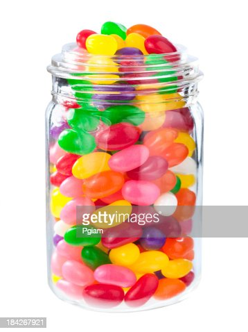 Jelly beans in a jar