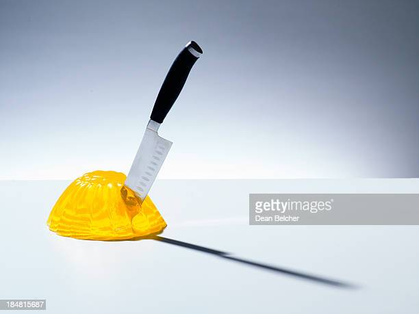 Jelly with knife