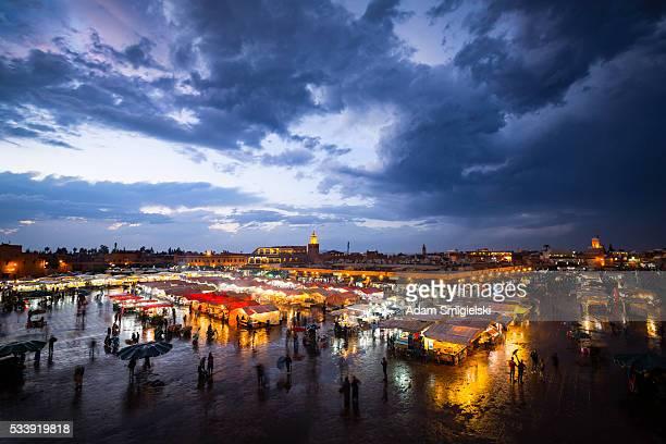 Der Djemaa el-fna, Marrakesch, Marokko