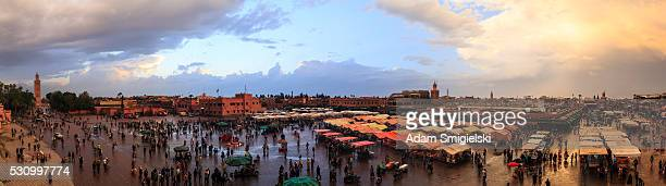 Jemaa el-Fnaa panoramic view, Marrakesh, Morocco (98 MPix)