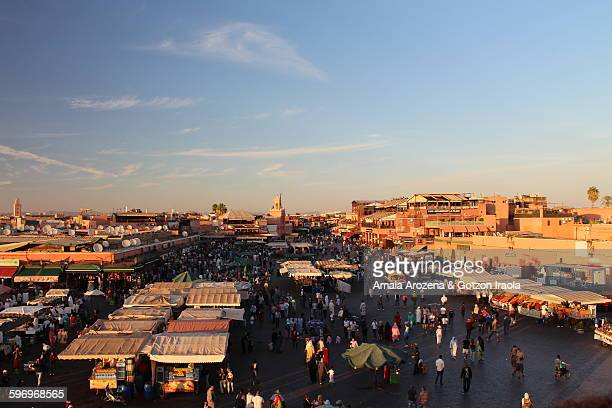 Jemaa el-Fnaa square in Marrakech
