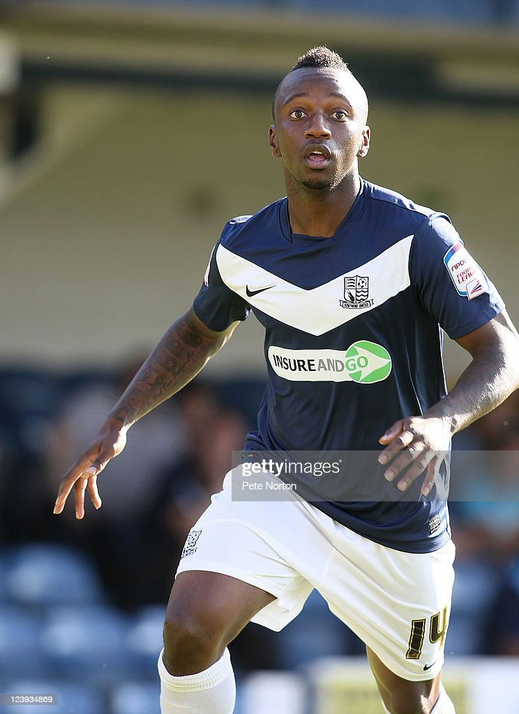 Jemel Johnson of Southend United in action during the npower League Two match between Southend United and Northampton Town at Roots Hall on September 3, 2011 in Southend, England.