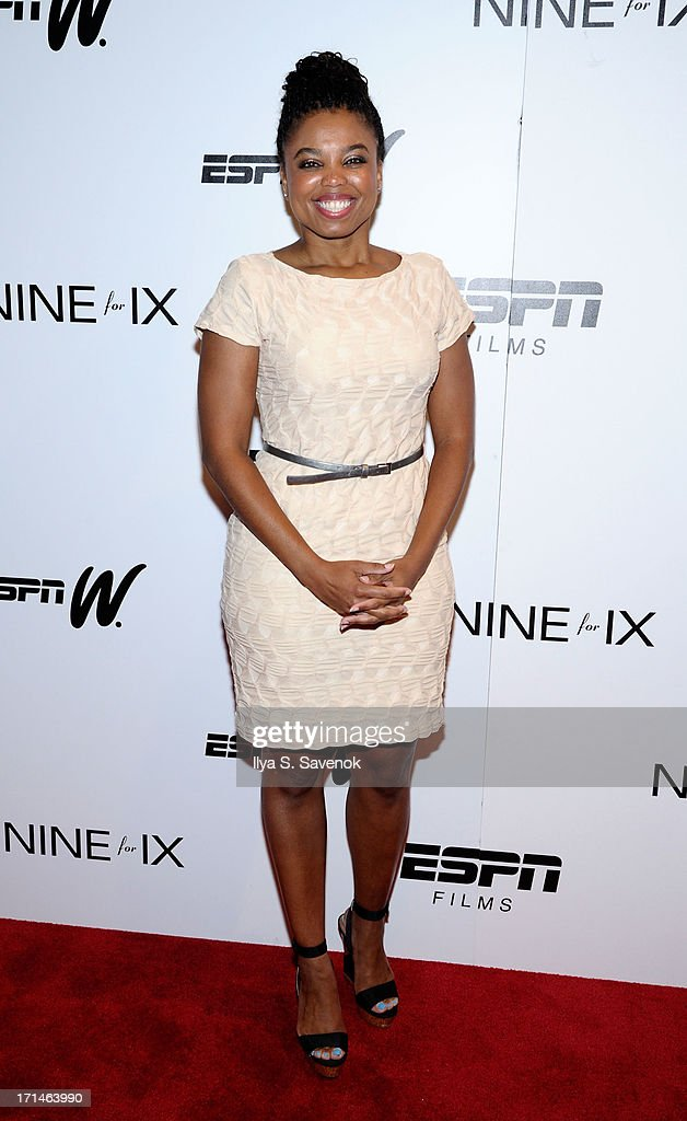 Jemele Hill attends 'Venus Vs.' and 'Coach' New York Special Screenings at Paley Center For Media on June 24, 2013 in New York City.