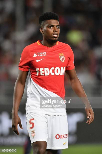 Jemerson of AS Monaco in action during the French Trophy of Champions football match between Monaco and Paris SaintGermain at the Grand Stade in...