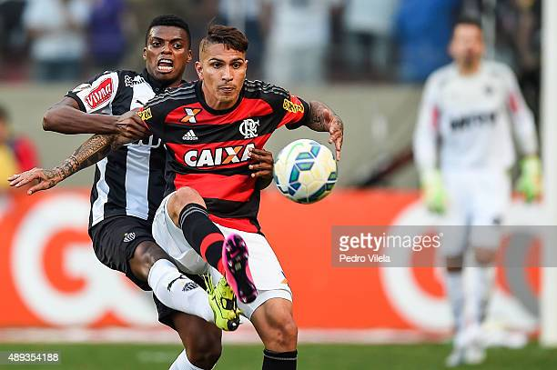 Jemerson of Atletico MG and Guerrero of Flamengo battle for the ball during a match between Atletico MG and Flamengo as part of Brasileirao Series A...
