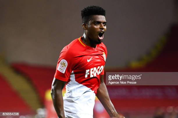 Jemerson of Monaco celebrates his goal during the Ligue 1 match between AS Monaco and Toulouse at Stade Louis II on August 4 2017 in Monaco