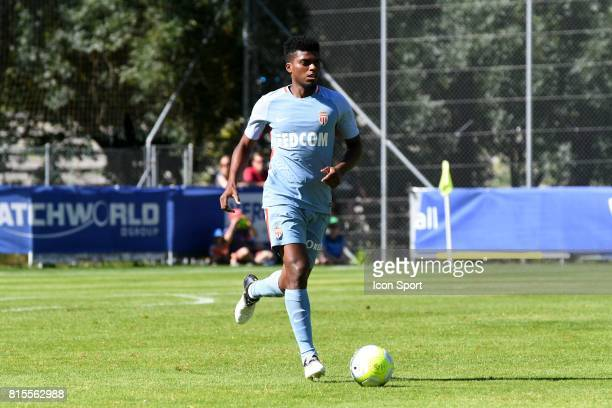 Jemerson of Monaco during the friendly match between As Monaco and PSV Eindhoven on July 16 2017 in Le Chable Switzerland
