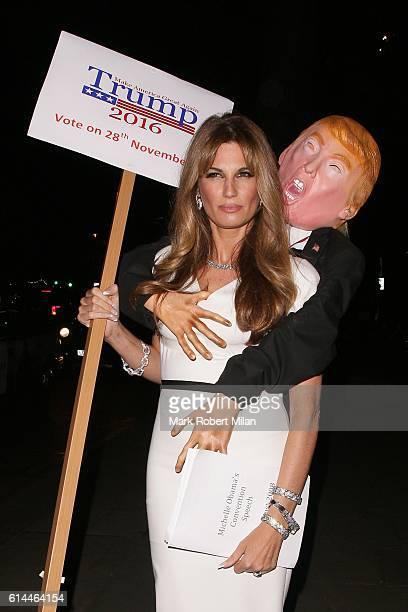 Jemima Goldsmith arriving the UNICEF Halloween Ball on October 13 2016 in London England