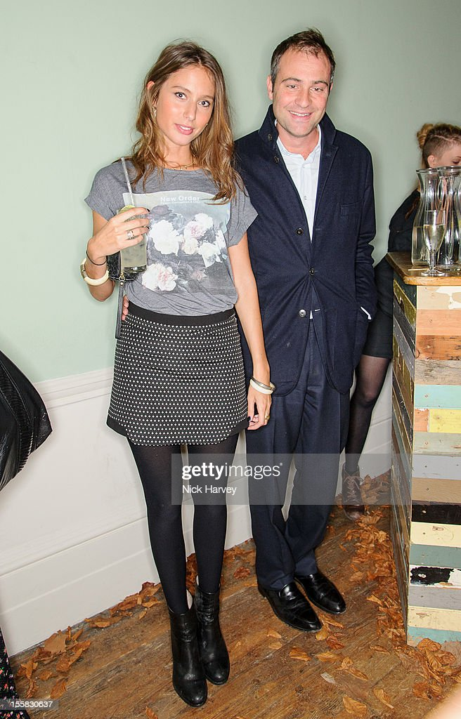 Jemima Jones and Ben Goldsmith attend the launch of Savannah Miller's new solo collection 'Savannah' on November 8 2012 in London England