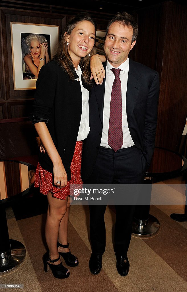 Jemima Jones and Ben Goldsmith attend the launch of Spear's Magazine issue 33 guestedited by Ben Goldsmith at 45 Park Lane on June 19 2013 in London...