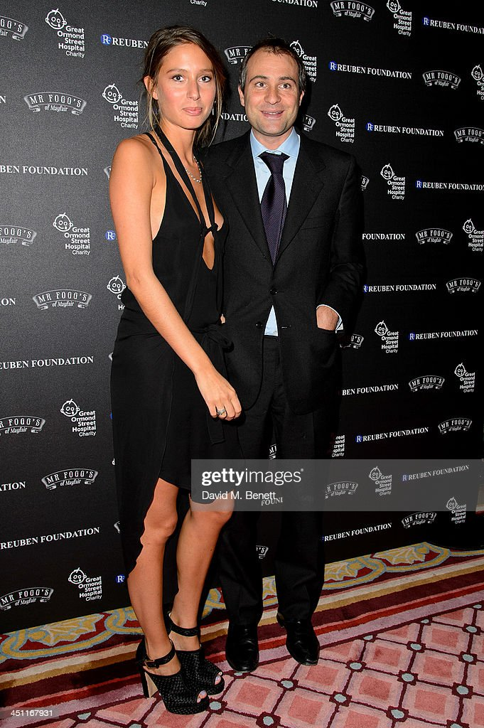 Jemima Jones and Ben Goldsmith attends the Reuben Foundation Dinner at Bridgewater House on November 21 2013 in London England