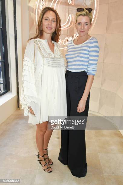 Jemima Jones and Lucy CarrEllison attend the opening of the new Chloe London flagship store on New Bond Street on June 14 2017 in London England