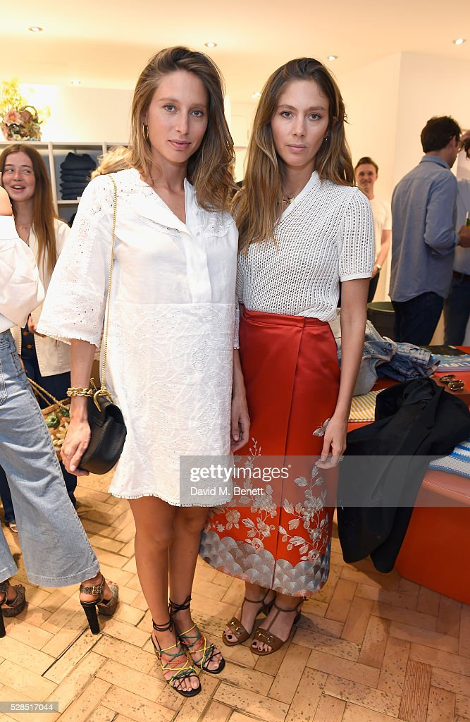 Jemima Jones and Quentin Jones attend Mih Jeans' 10th Anniversary Celebration at their popup concept store on Upper James Street on May 5 2016 in...