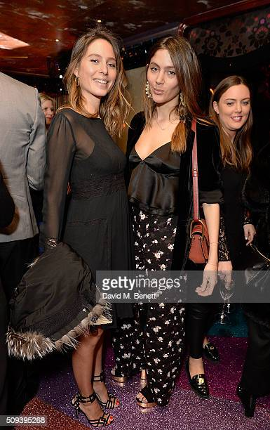Jemima Jones and Quentin Jones attend the Kilian Boutique Launch Party at Loulou's on February 10 2016 in London England