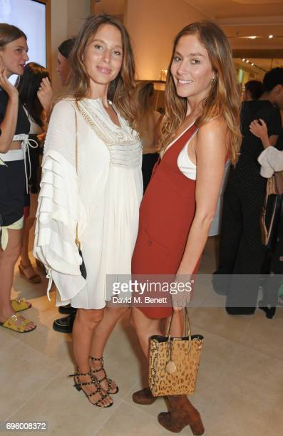 Jemima Jones and Quentin Jones attend the opening of the new Chloe London flagship store on New Bond Street on June 14 2017 in London England