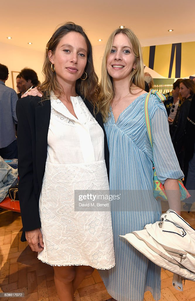 Jemima Jones and Xochi Balfour attend Mih Jeans' 10th Anniversary Celebration at their popup concept store on Upper James Street on May 5 2016 in...