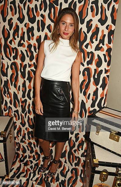 Jemima Jones attends a private dinner celebrating the Charlotte Olympia SS16 Collection during LFW at Daphne's on September 20 2015 in London England