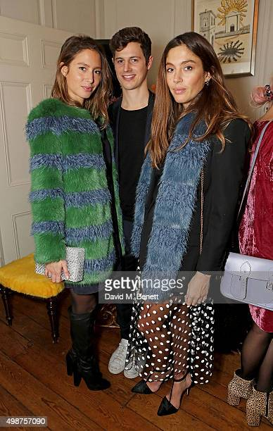 Jemima Jones guest and Quentin Jones attend the Shrimps cocktail party at 68 Dean Street on November 25 2015 in London England