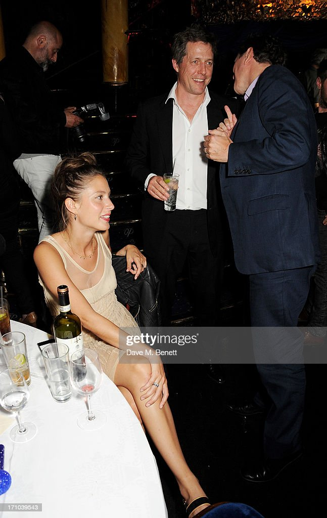 REQUIRED Jemima Jones Hugh Grant and Ben Goldsmith attend the Hoping Foundation's 'Rock On' benefit evening for Palestinian refugee children at Cafe...